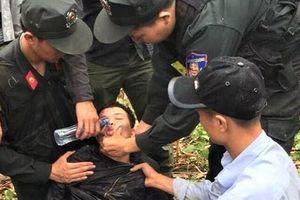 Nghi phạm giết xe ôm sa lưới trong tình trạng kiệt sức rồi ngất