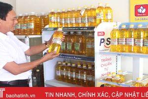 Cơ sở sản xuất dầu lạc đầu tiên ở Hà Tĩnh được cấp nhãn hiệu, doanh thu gần 3 tỷ đồng/năm