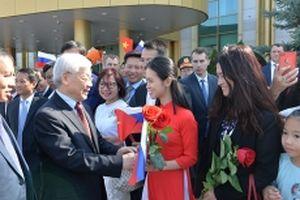 Tổng Bí thư Nguyễn Phú Trọng đến Thủ đô Moskva, bắt đầu chuyến thăm chính thức Liên bang Nga