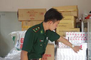 Đồn Biên phòng Vĩnh Ngươn thu giữ số lượng lớn thuốc lá nhập lậu