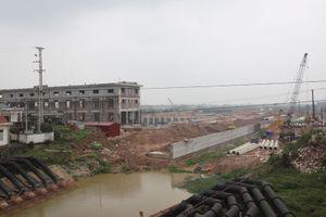 Hoàn thành hơn 80% khối lượng xây lắp Trạm bơm tiêu Yên Nghĩa