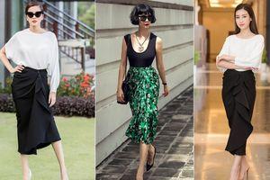 Đỗ Mỹ Linh, Hà Kiều Anh và loạt mỹ nhân chuộng chân váy bất đối xứng