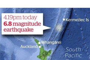 Động đất mạnh tại New Zealand, không có cảnh báo sóng thần