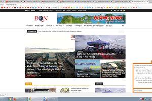 Báo Quảng Ninh điện tử bị 'làm nhái'