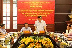Đoàn công tác số 2, Ban chỉ đạo Trung ương về PCNT làm việc với Ban cán sự đảng TANDTC