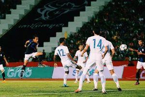 HLV Keisuke Honda ra mắt Campuchia bằng một trận thua