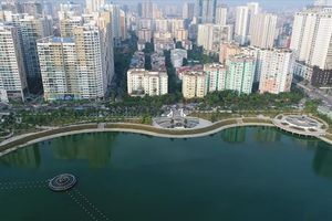 Ngắm toàn cảnh từ trên cao công viên gần 300 tỷ đồng mới đi vào hoạt động ở Hà Nội