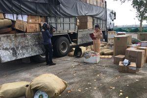 Phát hiện bắt giữ xe ô tô vận chuyển 1.250 kg da Đà Điểu
