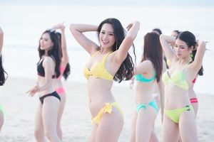 Thí sinh Hoa hậu Việt Nam 'nóng bỏng' trong MV 'Thiên đường là em'