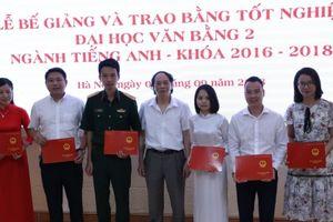 Trường Đại học KD&CN HN: Trao bằng tốt nghiệp văn bằng 2 ngành tiếng Anh cho 37 tân cử nhân