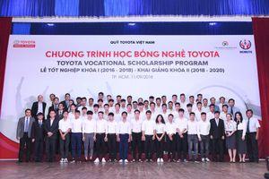 Hơn 40% sinh viên khóa đầu tiên 'Học bổng dạy nghề Toyota' ra trường có việc làm