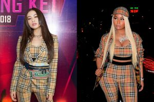 Hoàng Thùy Linh đụng nguyên set giống 'trùm bạo lực' Nicki Minaj và cái kết chẳng ai ngờ tới