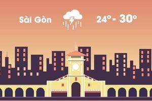 Thời tiết ngày 14/9: Sài Gòn mưa lớn, Hà Nội nắng gián đoạn