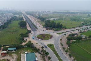 Nhìn từ trên cao toàn cảnh tuyến đường 5.000 tỷ nối bốn quận, huyện Hà Nội