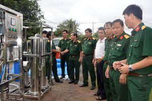 Viện Công nghệ mới tặng thiết bị lọc nước cơ động cho Bộ CHQS Tây Ninh