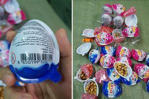 Phát hiện kho chứa 1,5 tấn bánh kẹo socola King Egg không rõ nguồn gốc