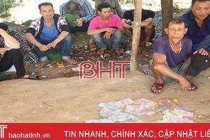 Cảnh sát Hình sự Hà Tĩnh phá ổ bạc trên chùa Hương, bắt 12 đối tượng