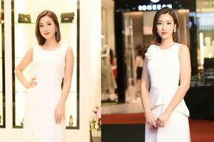 Quá thành công khi xuống tóc, Đỗ Mỹ Linh xinh đẹp rạng rỡ thay liền 2 bộ váy trong sự kiện