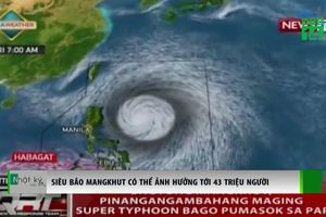 Siêu bão MANGKHUT có thể ảnh hưởng tới 43 triệu người