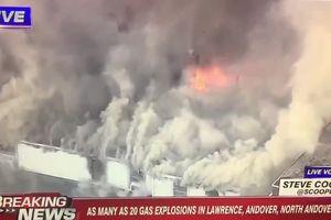 Hiện trường nổ gas kinh hoàng ở Mỹ