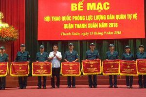 Bế mạc hội thao quốc phòng lực lượng dân quân tự vệ quận Thanh Xuân