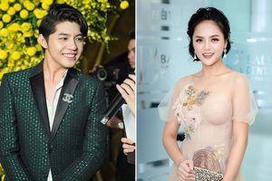 'Mi Sói' Thu Quỳnh mặc xuyên thấu sexy dự event cùng Noo Phước Thịnh