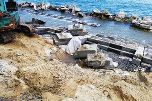 Quảng Nam: Gấp rút hoàn thành sửa chữa bờ kè biển Cửa Đại