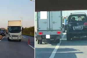 Xe tải đâm ô tô Lexus biển số tứ quý trên cao tốc, 1 CSGT bị thương nặng