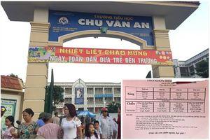 Trường tiểu học đông học sinh nhất Thủ đô: Thiếu phòng học vẫn đưa học thêm vào thời khóa biểu chính khóa