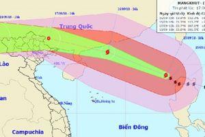 Siêu bão Mangkhut giật trên cấp 17: Cấm biển từ Quảng Ninh đến Nghệ An