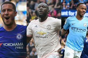 Cuộc đua 'Vua phá lưới' Premier League: Hazard dẫn đầu, Lukaku đứng thứ 2