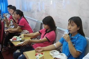 Trên 600 tình nguyện viên tham gia hiến máu