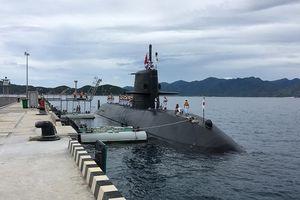 Tàu ngầm Nhật lần đầu tiên tham gia diễn tập ở Biển Đông