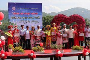Trao 'khóa tình yêu' cho 5 đôi uyên ương tại điểm du lịch sinh thái hồ Yên Trung