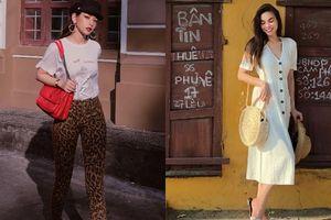 Chi Pu hóa quý cô sành điệu thời thượng, Hà Hồ lại nữ tính và giản dị với đầm vintage