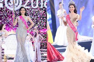 Thật bất ngờ, váy đuôi cá của Hoa hậu Trần Tiểu Vy chính là kiểu váy mà nhiều Hoa hậu chọn diện khi đăng quang