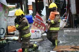 Hơn 360 nạn nhân nhập viện do siêu bão Mangkhut tại Hong Kong