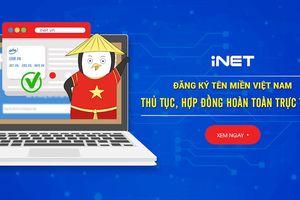 iNET chính thức triển khai hệ thống đăng ký tên miền '.VN' hoàn toàn trực tuyến đầu tiên ở Việt Nam