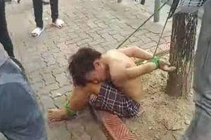 Bắt trói thiếu niên đánh giày vào gốc cây vì nghi trộm tiền