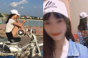 Bị trù làm gái ngành, mỹ nữ xăm trổ chạy xe Cub bằng chân phản pháo