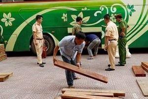 Phát hiện xe khách vận chuyển khối lượng lớn gỗ đinh hương trái phép