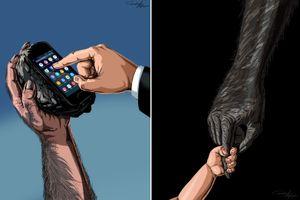 Minh họa sức mạnh của bàn tay con người đã thay đổi thế nào theo lịch sử
