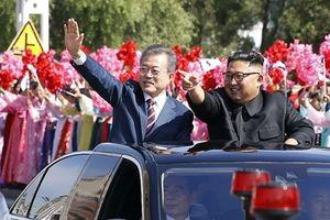 Người dân Bình Nhưỡng đổ ra đường đón Tổng thống Moon, hô vang 'thống nhất'