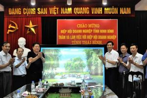 Hiệp hội doanh nghiệp Ninh Binh và Thái Bình trao đổi kinh nghiệm, hợp tác phát triển
