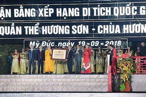 Quần thể Hương Sơn - Chùa Hương được nhận Bằng xếp hạng di tích Quốc gia đặc biệt