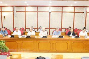 Bộ Chính trị họp về các đề án chuẩn bị trình Hội nghị TW 8