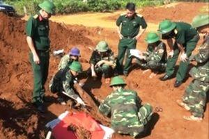 Phát hiện, cất bốc 11 hài cốt liệt sĩ ở Quảng Trị