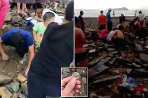 Sau siêu bão Mangkhut, người dân Trung Quốc đổ xô săn lùng 'kho báu'