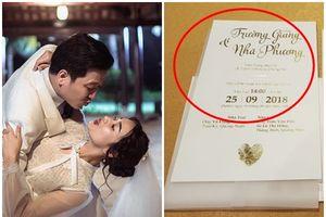 Bất ngờ với quy định lạ Nhã Phương - Trường Giang bắt khách mời tuân thủ mới được dự lễ cưới