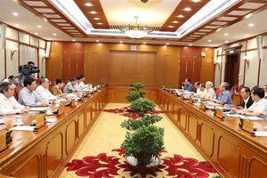 Bộ Chính trị họp cho ý kiến về các đề án chuẩn bị trình Hội nghị Trung ương 8 khóa XII